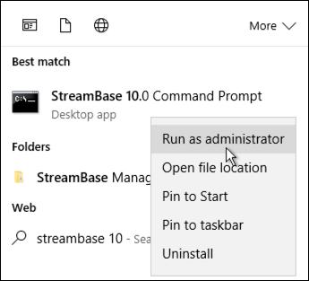 StreamBase Command Prompt
